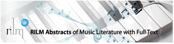 RILM Abstracts of Music Literature with Full Text